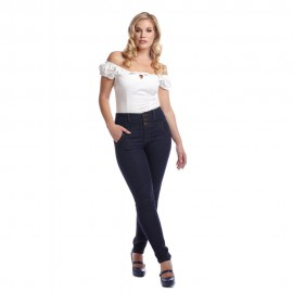 REBEL KATE STRETCH DENIM JEANS