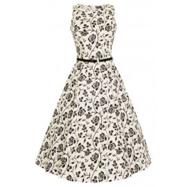 HEPBURN - ROSE SILHOUETTE DRESS