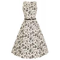 HEPBURN - ROSE SILHOUETTE DRESS