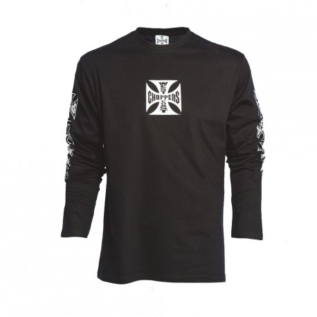 T-SHIRT MANICHE LUNGHE ORIGINAL CROSS BLK