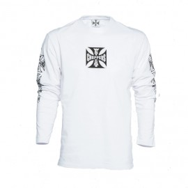 T-SHIRT MANICHE LUNGHE ORIGINAL CROSS WHT